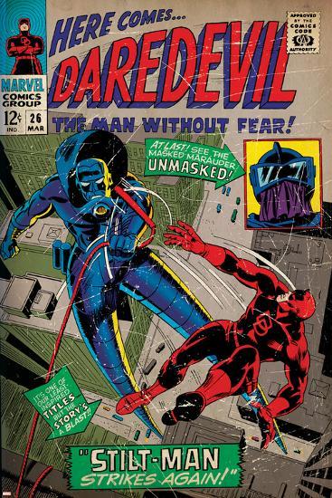 Marvel Comics Retro Style Guide: Daredevil--Art Print