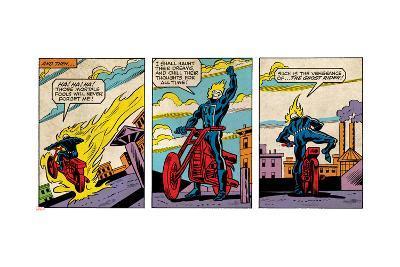 Marvel Comics Retro Style Guide: Ghost Rider--Art Print