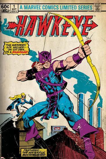 Marvel Comics Retro Style Guide: Hawkeye--Art Print