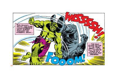 Marvel Comics Retro Style Guide: Hulk, Rhino--Art Print