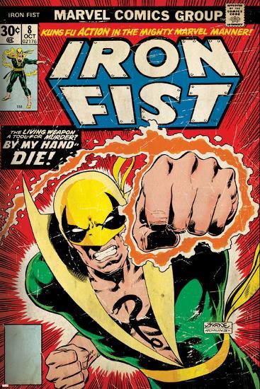 Marvel Comics Retro Style Guide: Iron Fist--Art Print