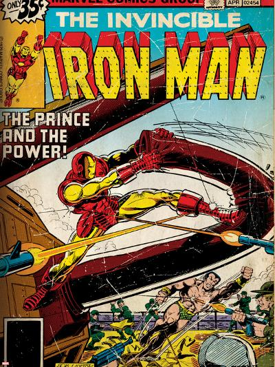 Marvel Comics Retro Style Guide: Iron Man, Namor--Art Print