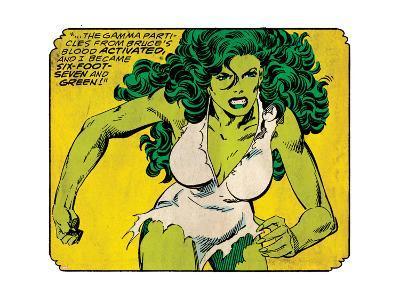 Marvel Comics Retro Style Guide: She-Hulk--Art Print