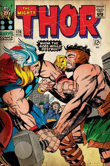 Marvel Comics Retro Style Guide: Thor, Hercules--Art Print