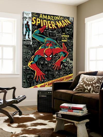 Marvel Comics Retro: The Amazing Spider-Man Comic Book Cover No.100, 100th Anniversary Issue--Loft Art