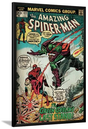 Marvel Comics Retro: The Amazing Spider-Man Comic Book Cover No.122, the Green Goblin (aged)--Lamina Framed Poster