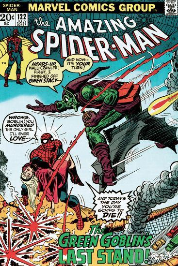 Marvel Comics Retro: The Amazing Spider-Man Comic Book Cover No.122, the Green Goblin's Last Stand!--Art Print