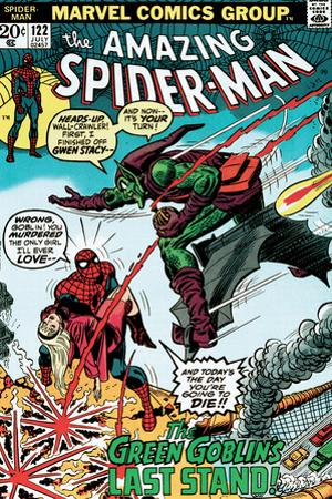 Marvel Comics Retro: The Amazing Spider-Man Comic Book Cover No.122, the Green Goblin's Last Stand!
