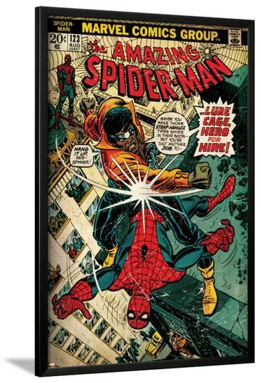 Marvel Comics Retro: The Amazing Spider-Man Comic Book Cover No.123, Luke Cage - Hero for Hire--Lamina Framed Poster