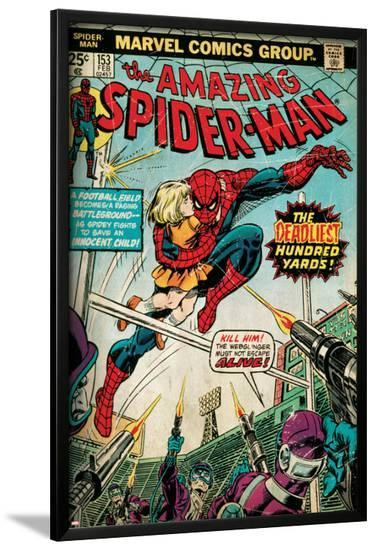 Marvel Comics Retro: The Amazing Spider-Man Comic Book Cover No.153 (aged)--Lamina Framed Poster