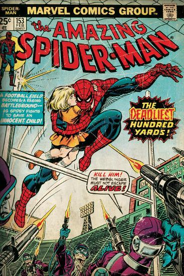 Marvel Comics Retro: The Amazing Spider-Man Comic Book Cover No.153 (aged)--Wall Mural