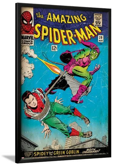 Marvel Comics Retro: The Amazing Spider-Man Comic Book Cover No.39, Green Goblin (aged)--Lamina Framed Poster