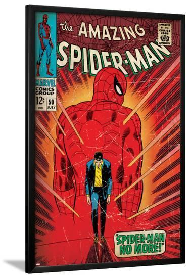 Marvel Comics Retro: The Amazing Spider-Man Comic Book Cover No.50, Spider-Man No More! (aged)--Lamina Framed Poster