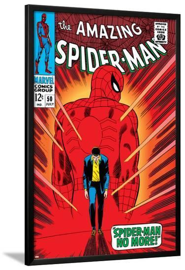 Marvel Comics Retro: The Amazing Spider-Man Comic Book Cover No.50, Spider-Man No More!--Lamina Framed Poster