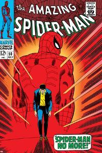 Marvel Comics Retro: The Amazing Spider-Man Comic Book Cover No.50, Spider-Man No More!