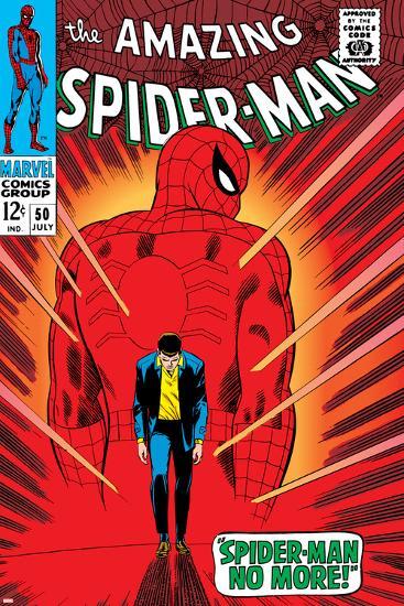 Marvel Comics Retro: The Amazing Spider-Man Comic Book Cover No.50, Spider-Man No More!--Art Print