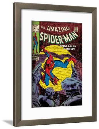 Marvel Comics Retro: The Amazing Spider-Man Comic Book Cover No.70, Wanted! (aged)