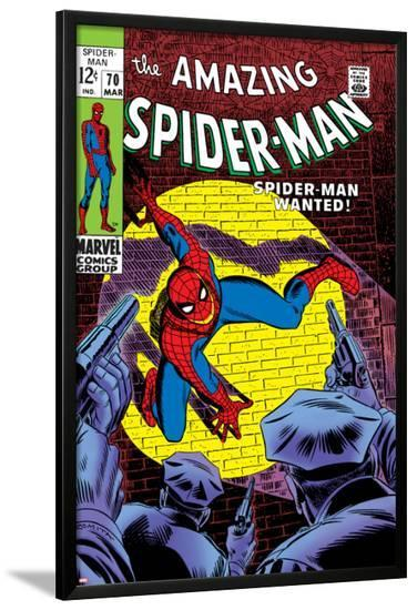 Marvel Comics Retro: The Amazing Spider-Man Comic Book Cover No.70, Wanted!--Lamina Framed Poster