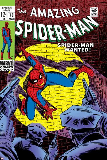 Marvel Comics Retro: The Amazing Spider-Man Comic Book Cover No.70, Wanted!--Art Print