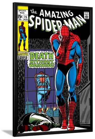 Marvel Comics Retro: The Amazing Spider-Man Comic Book Cover No.75, Death Without Warning!--Lamina Framed Poster