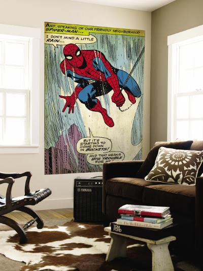 Marvel Comics Retro: The Amazing Spider-Man Comic Panel (aged)--Wall Mural