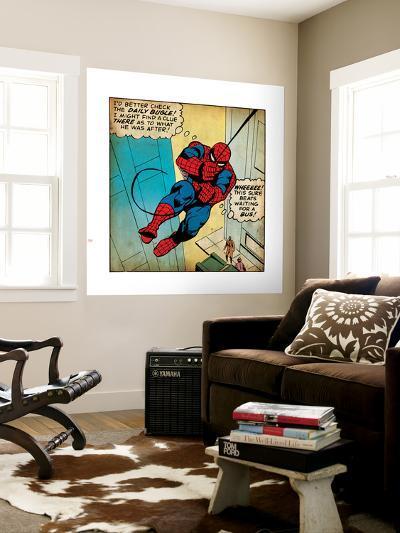 Marvel Comics Retro: The Amazing Spider-Man Comic Panel (aged)--Wall Mural