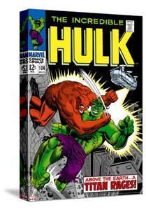 Marvel Comics Retro: The Incredible Hulk Comic Book Cover No.106, Titan Rages