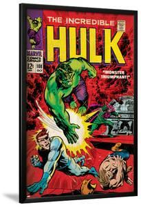 Marvel Comics Retro: The Incredible Hulk Comic Book Cover No.108, with Nick Fury (aged)