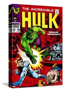 Marvel Comics Retro: The Incredible Hulk Comic Book Cover No.108, with Nick Fury