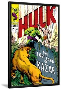 Marvel Comics Retro: The Incredible Hulk Comic Book Cover No.109, the Lost Land of Ka-Zar