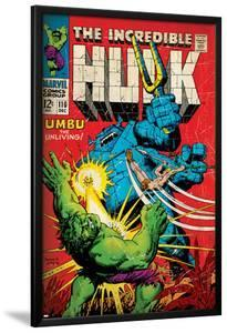 Marvel Comics Retro: The Incredible Hulk Comic Book Cover No.110, with Umbu the Unliving (aged)