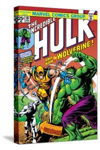 Marvel Comics Retro: The Incredible Hulk Comic Book Cover No.181, with Wolverine and the Wendigo