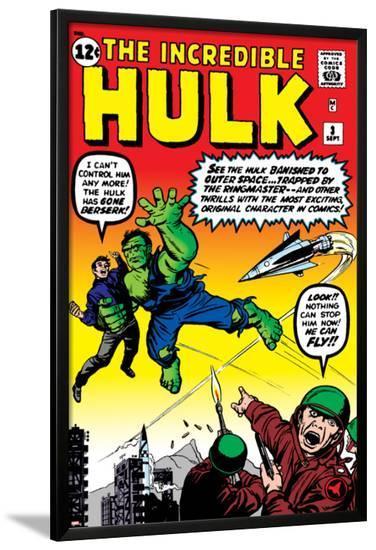Marvel Comics Retro: The Incredible Hulk Comic Book Cover No.3--Lamina Framed Poster