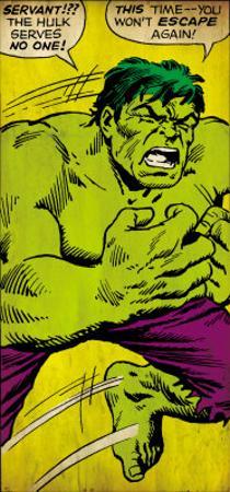 Marvel Comics Retro: The Incredible Hulk Comic Panel (aged)