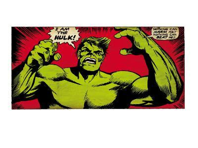 Marvel Comics Retro: The Incredible Hulk Comic Panel (aged)--Art Print