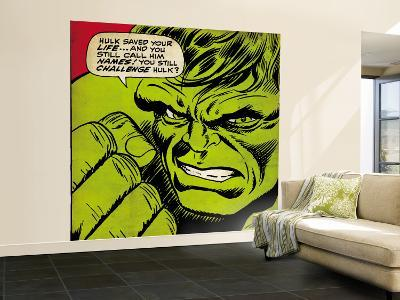 Marvel Comics Retro: The Incredible Hulk Comic Panel (aged)--Wall Mural – Large