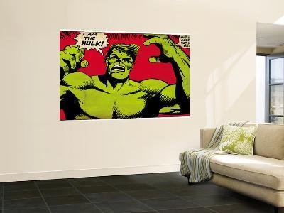 Marvel Comics Retro: The Incredible Hulk Comic Panel (aged)--Wall Mural