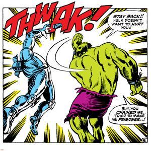 Marvel Comics Retro: The Incredible Hulk Comic Panel, Fighting, Thwak!