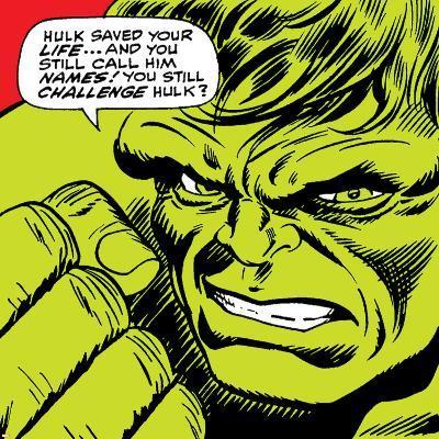 Marvel Comics Retro: The Incredible Hulk Comic Panel--Art Print