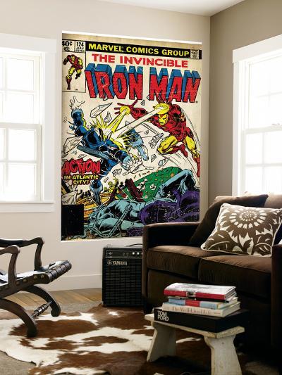 Marvel Comics Retro: The Invincible Iron Man Comic Book Cover No.124, Action in Atlantic City--Wall Mural