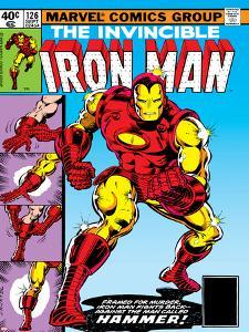 Marvel Comics Retro: The Invincible Iron Man Comic Book Cover No.126, Suiting Up for Battle