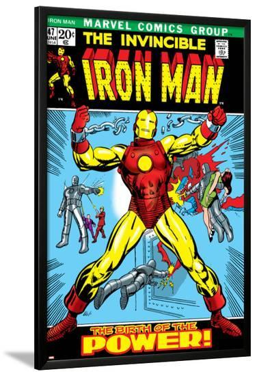 Marvel Comics Retro: The Invincible Iron Man Comic Book Cover No.47, Breaking Through Chains--Lamina Framed Poster