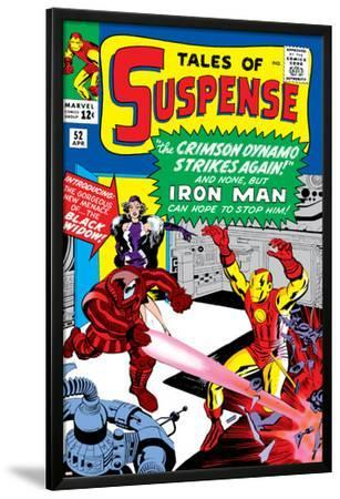 Marvel Comics Retro: The Invincible Iron Man Comic Book Cover No.52, Facing the Crimson Dynamo