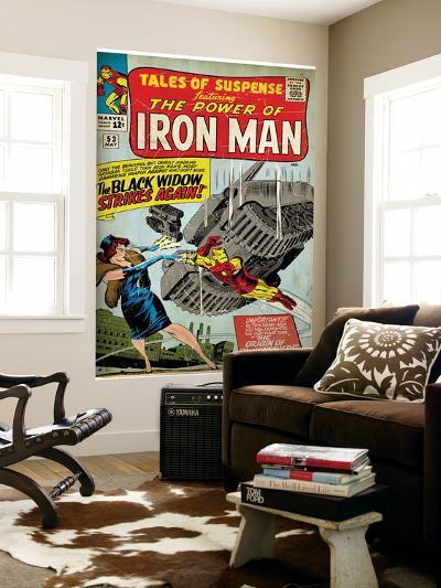 Marvel Comics Retro: The Invincible Iron Man Comic Book Cover No.53, Black Widow Strikes Again--Wall Mural