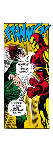 Marvel Comics Retro: The Invincible Iron Man Comic Panel, Fighting--Art Print