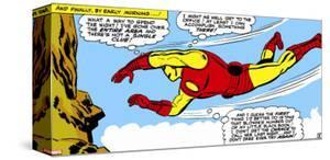 Marvel Comics Retro: The Invincible Iron Man Comic Panel, Flying