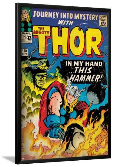 Marvel Comics Retro: The Mighty Thor Comic Book Cover No.120, Journey into Mystery (aged)--Lamina Framed Poster