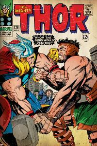 Marvel Comics Retro: The Mighty Thor Comic Book Cover No.126, Hercules (aged)