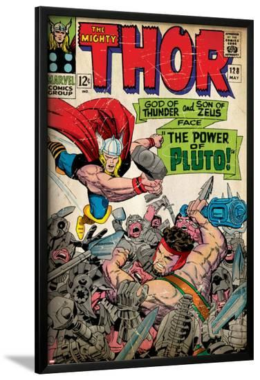 Marvel Comics Retro: The Mighty Thor Comic Book Cover No.128, Hercules (aged)--Lamina Framed Poster
