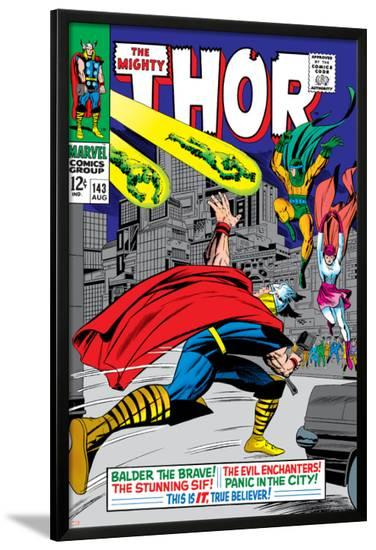 Marvel Comics Retro: The Mighty Thor Comic Book Cover No.143, Sif--Lamina Framed Poster
